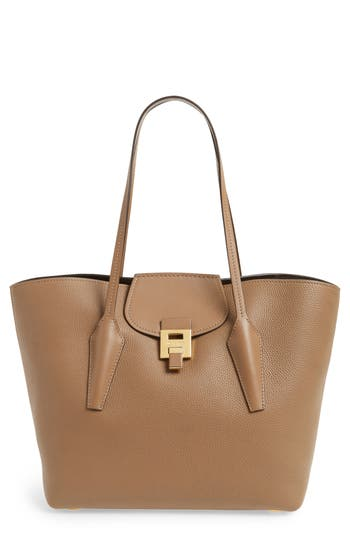 Michael Kors Large Bancroft Leather Tote - Brown