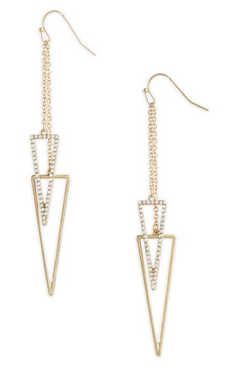 Women's Canvas Pavé Crystal Drop Earrings