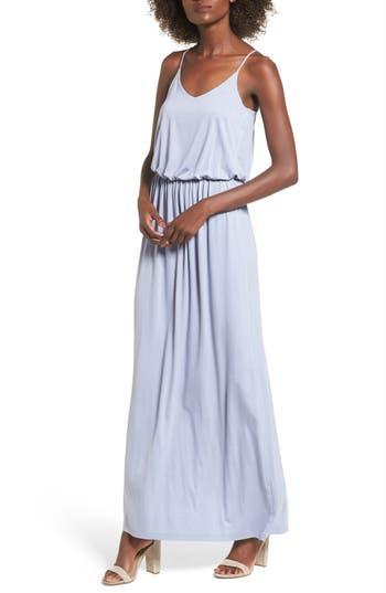 Knit Maxi Dress, Blue