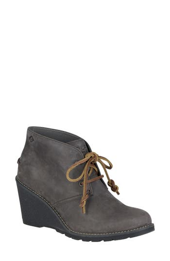 Sperry Celeste Lace-Up Bootie, Beige