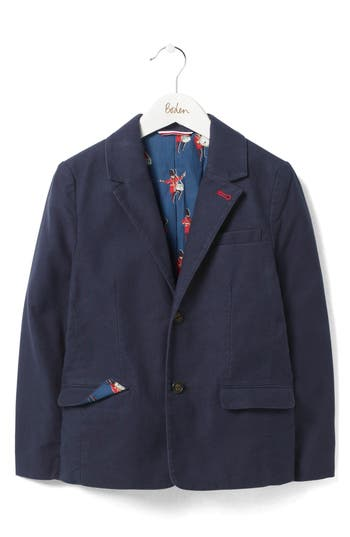 Toddler Boys Mini Boden Party Blazer Size 23Y  Blue