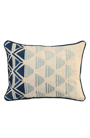 Villa Home Collection Embroidered Pillow, Size One Size - Blue