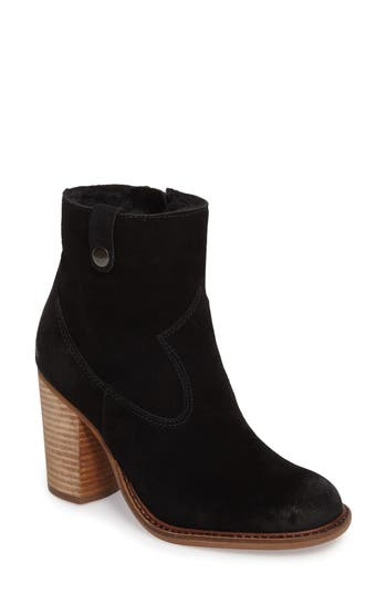 Kelsi Dagger Brooklyn Legion Bootie With Faux Shearling Lining, Black