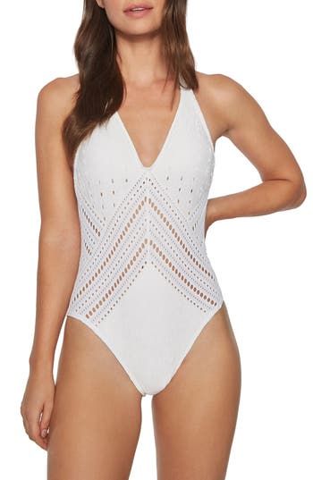Robin Piccone Clarissa One-Piece Swimsuit, White