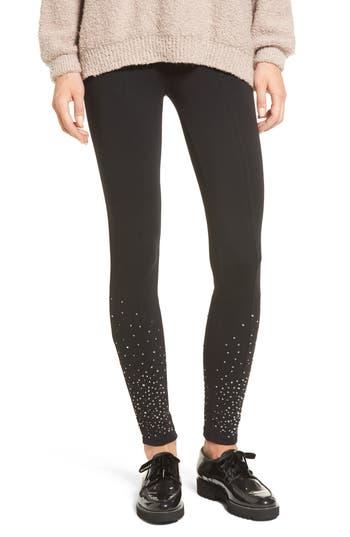 Bp. Sequin Embellished Leggings, Black