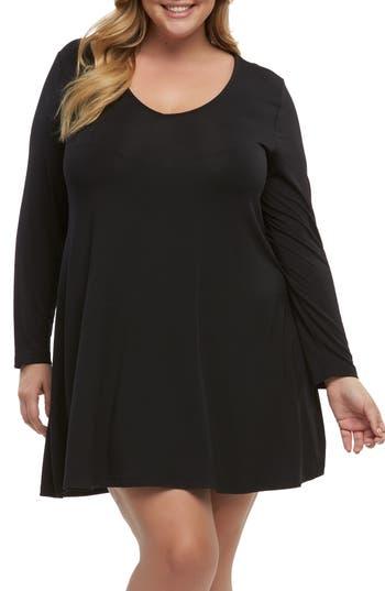 Plus Size Tart Suzi Knit A-Line Dress, Black