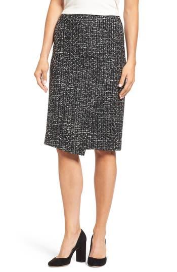 Women's Emerson Rose Tweed Skirt, Size 0 - Black