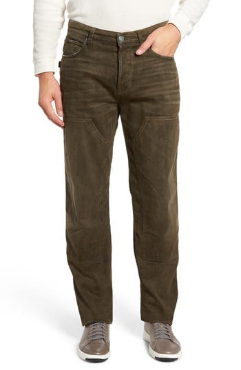 Hudson Hunter Straight Fit Jeans, Brown