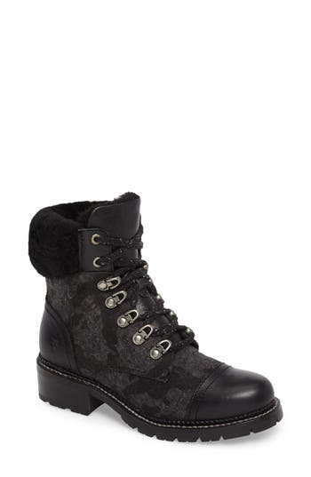 Frye Samantha Water Resistant Hiking Boot, Black