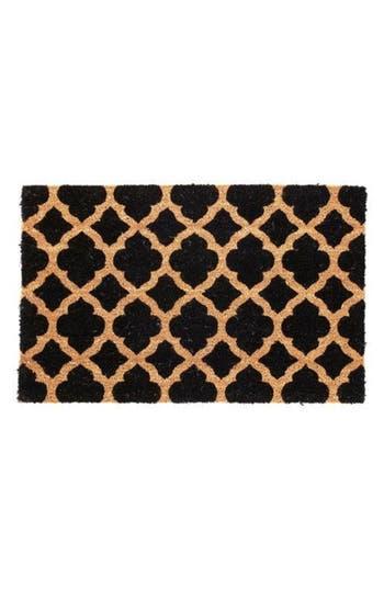 Bovi Lattice Door Mat, Size One Size - Black