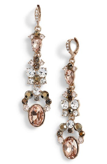 Women's Givenchy Drama Linear Crystal Earrings