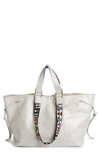 Isabel Marant Wardy Leather Shopper - Grey at NORDSTROM.com