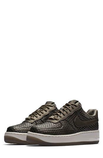 Nike Air Force 1 Upstep Premium Platform Sneaker- Grey
