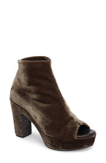 Cordani Tyra Peep Toe Platform Bootie - Grey