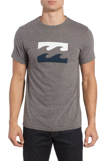 Billabong Wave Graphic T-Shirt, Grey