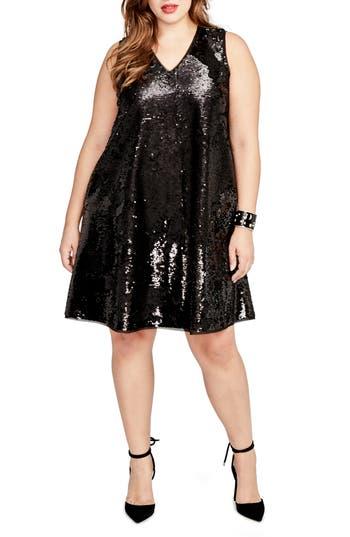 Plus Size Rachel Rachel Roy Sequin Swing Dress, Black