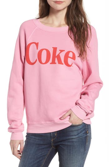 Women's Wildfox Classic Coke Sweatshirt, Size X-Small - Pink