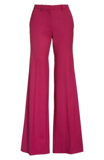 Theory Demetria 2 Flare Leg Good Wool Suit Pants, Pink