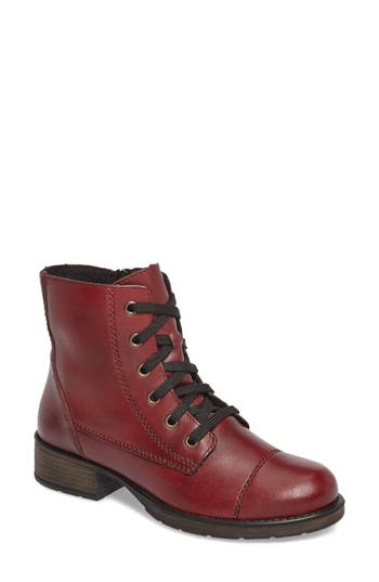 Rieker Antistress Faith 10 Lace-Up Boot, Burgundy