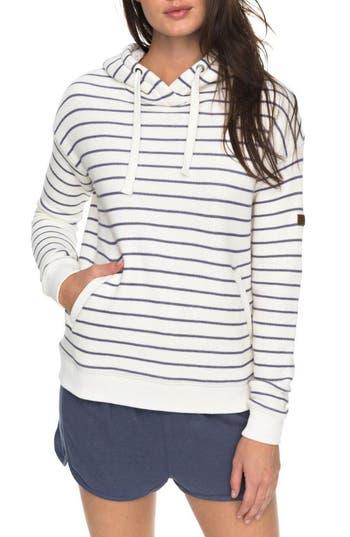 Roxy Shoal Stripe Hoodie, White