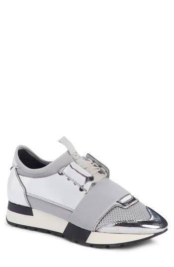 Balenciaga Lace-Up Sneaker, Metallic