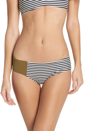 Boys + Arrows Wallace Bikini Bottoms, Green