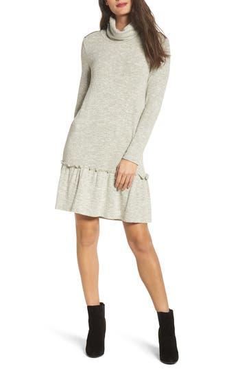 Thml Drop Waist Sweater Dress, Grey