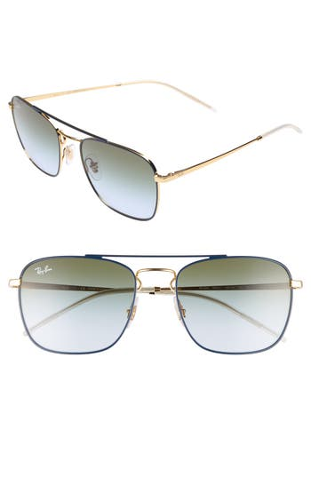 Ray-Ban Youngster Double Bridge 55Mm Sunglasses - Blue/ Gold