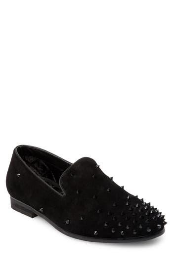 Steve Madden Cascade Studded Loafer, Black
