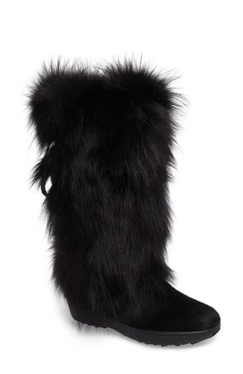 Pajar Kim Genuine Fox Fur Boot, Black
