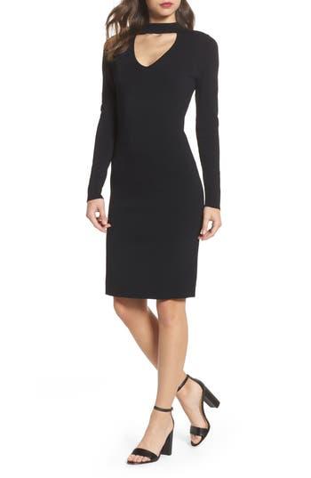 Eliza J Choker Collar Sheath Dress, Black