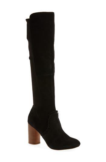 Sole Society Allegra Stretch Back Boot, Black