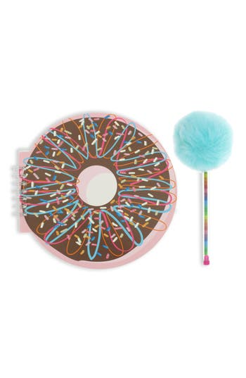 Capelli New York Donut Notebook And Pom Pen Set
