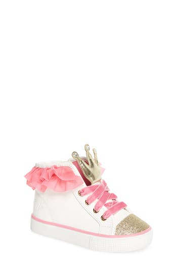 Toddler Girls Welliewishers From American Girl Ashlyn Crown High Top Sneaker Size 11 M  Pink