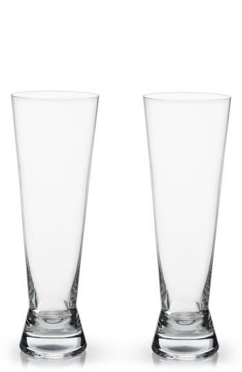 True Fabrications Viski Raye Set Of 2 Pilsner Glasses, Size One Size - White