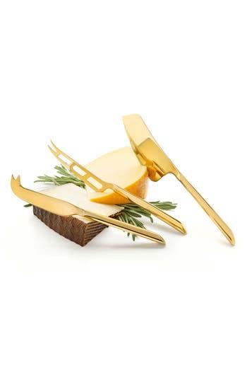 True Fabrications Viski Belmont Set Of 3 Cheese Knives, Size One Size - Metallic