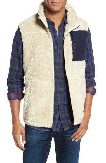 Men's Surfside Supply Colorblock Fleece Vest, Size Small - White