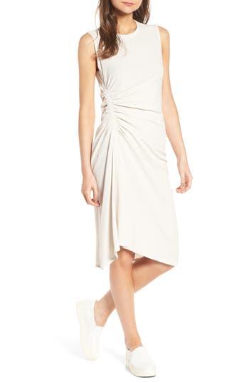 James Perse Spiral Shirred Sheath Dress