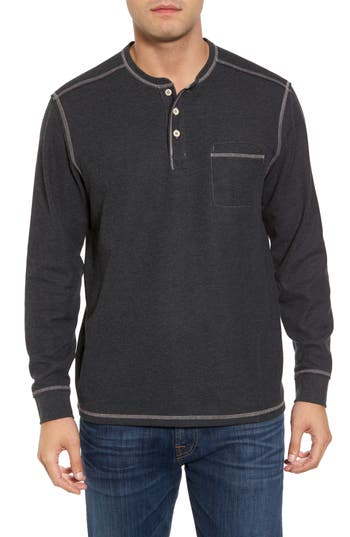 Tommy Bahama Island Thermal Standard Fit Thermal Henley, Blue