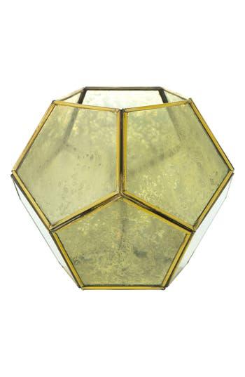 Accent Decor Geometric Lantern, Size One Size - Metallic