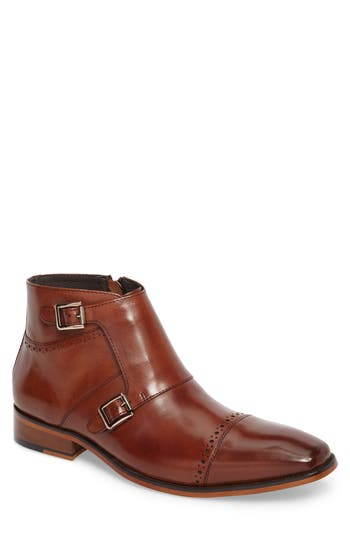 Stacy Adams Kason Double Monk Strap Boot, Brown