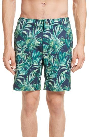Onia Calder Palma Del Mar Board Shorts, Blue