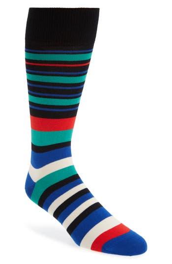 Men's Paul Smith Fern Stripe Socks, Size One Size - Black