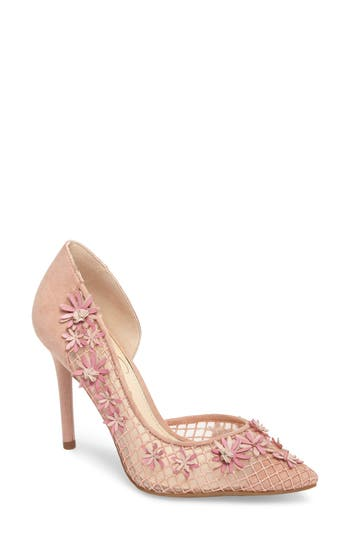 Jessica Simpson Leighah Floral Illusion Pump, Pink