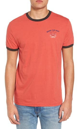 Rvca Bringing The Heat T-Shirt, Red