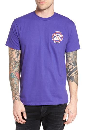 Obey Customer Service Premium Graphic T-Shirt, Purple