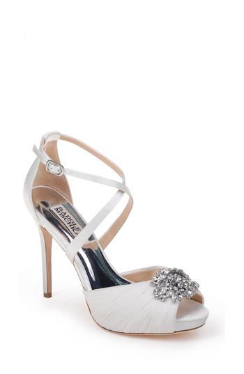 Badgley Mischka Sadie Strappy Sandal, White