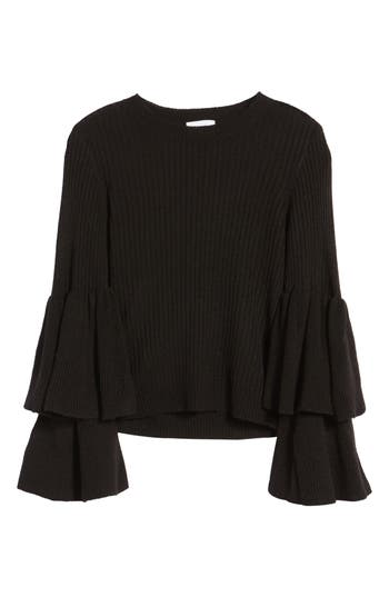 Women's Devlin Tiara Bell Sleeve Sweater, Size X-Small - Black
