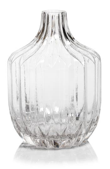 Zodax Astrud Ribbed Glass Vase, Size One Size - White