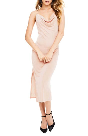 Astr The Label Ivana Midi Dress, Pink